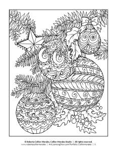 FREE Christmas Coloring Pages for Adults and Kids - Happiness is ... | 300x232