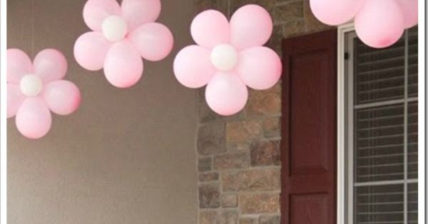 Baby Girl Balloon Flowers