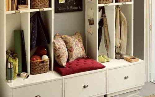 meuble de rangement pour l 39 entr e en 35 id es magnifiques vestibule banquettes and future. Black Bedroom Furniture Sets. Home Design Ideas