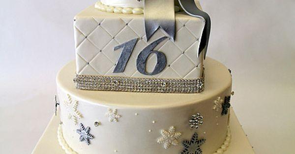Sweet 16 Star Birthday Cake.