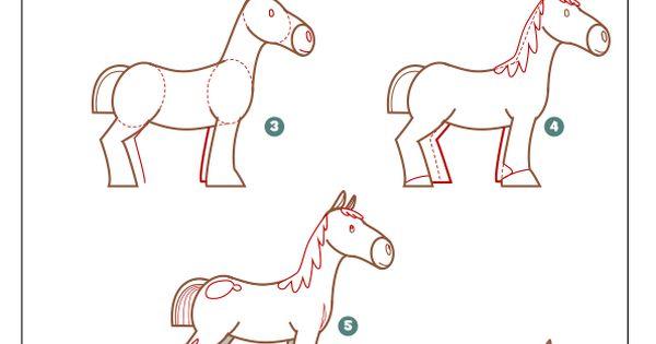 Apprendre dessiner un cheval m thode pour dessiner un - Apprendre dessiner cheval ...