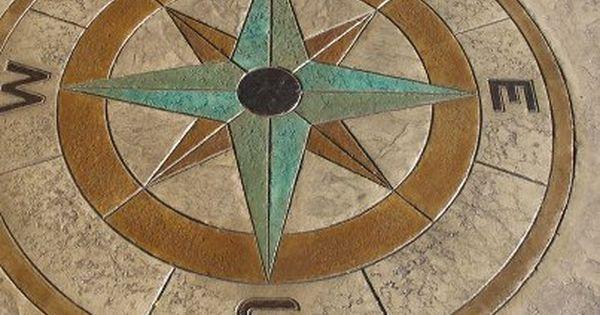 Decorative Concrete Stamp Compass Medallion Cincinnati
