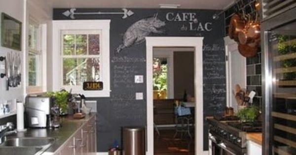 Restaurant Kitchen Walls chalkboard paint kitchen wall. brilliant. i would write the menu
