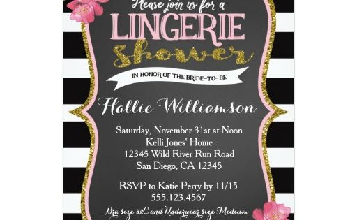 Lingerie Bridal Shower Invitation | Lingerie Bridal Shower Invitations | Pinterest | Lingerie ...