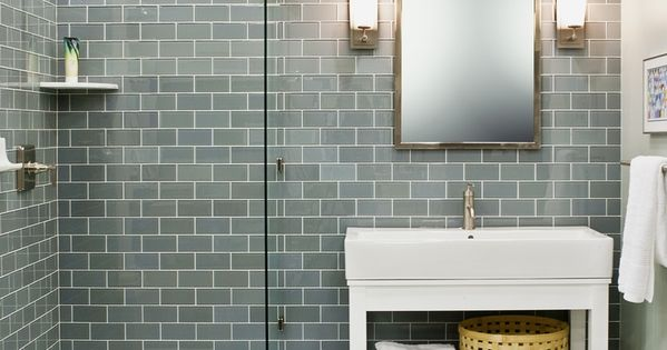 35 blue grey bathroom tiles ideas and pictures  Decoración del hogar.  Pinterest ...