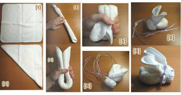Do It Yourself Home Design: How To Make Cute Towel Bunny Step By Step DIY Tutorial