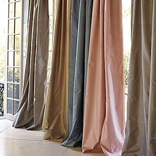 Putty Silk Shantung Window Panel Serena Lily Silk Curtains