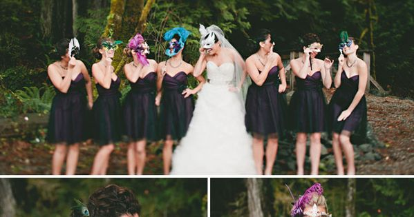 masquerade wedding! are you kidding me!! so awesome!! This is something I