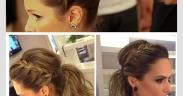 Messy braided ponytail for long hair