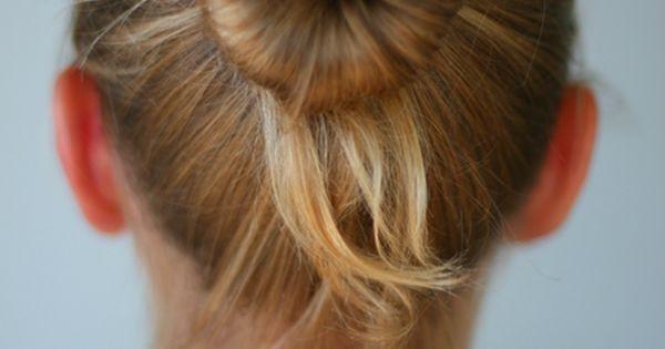 sock bun tutorial for fine hair