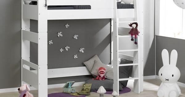 Lit mezzanine enfant london blanc 90 190 lits mezzanine mezzanine et lits - Comment positionner son lit ...