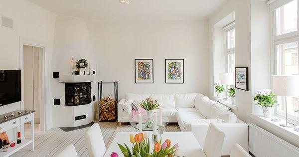 Muebles en blanco interiores muebles de ikea inspiraci n - Inspiracion salones ...