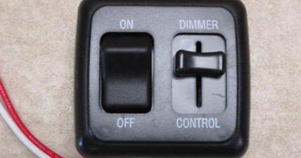 4 on-off RV 12 volt Light Switch Motor Home Camper Travel Trailer Marine White