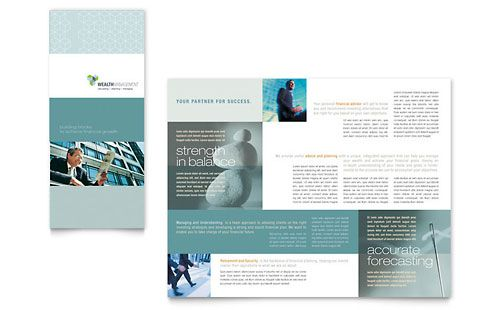 Good Design For A Lot Of Text Trifold Brochure Template