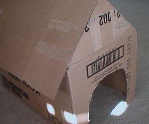 How To Make A Cardboard Doghouse Snoopy Birthday Paw Patrol