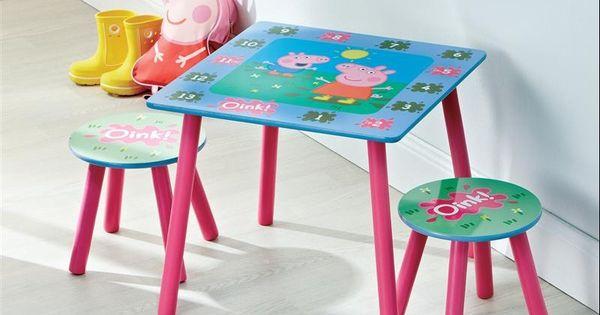 Peppa Pig Table And 2 Stools Big Kid Bedrooms