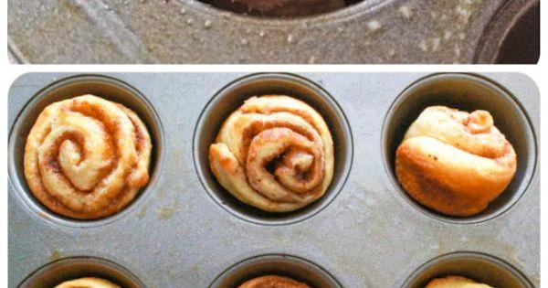 Mini Cinnamon Buns | Recipe | Cinnamon Rolls, Cinnamon and Bite Size