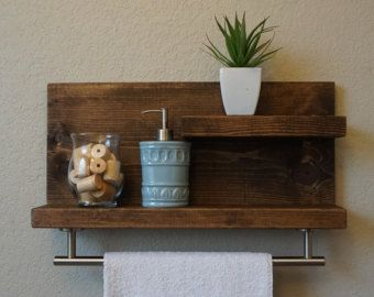 Simply Modern Rustic Bathroom Shelf With 3 Satin By Keodecor