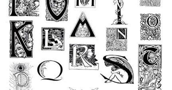 Art Nouveau Alphabet Rubber Stamp Sheet Books By Hand