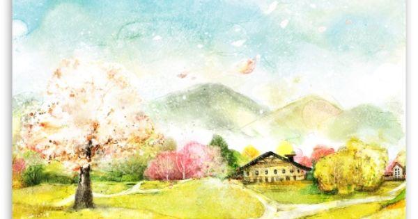 Download Autumn Illustration Hd Wallpaper Sanat Manzara Tablolar