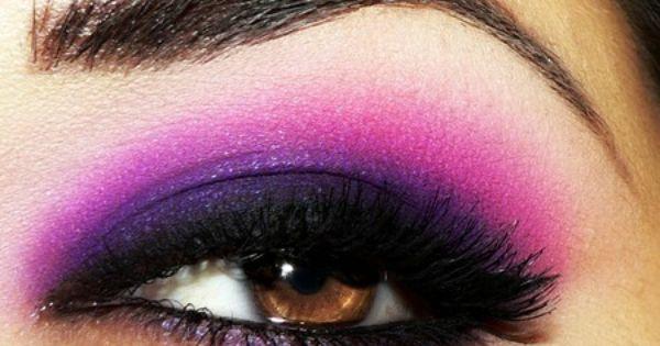 Dramatic purple eye