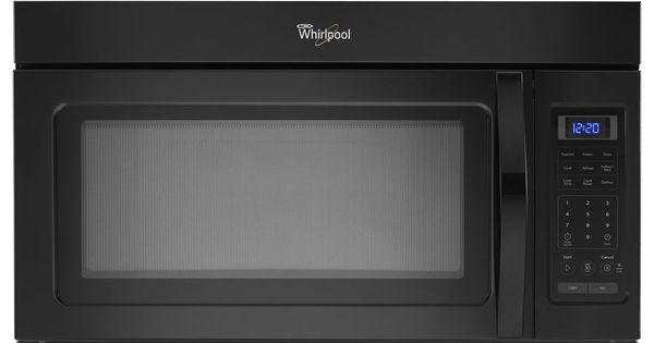 Upgrade appliace package g black or white whirlpool 1 7 cu ft microwave hood combination - Red over the range microwave ...