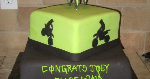 Monster Dirt Bike Cakes | cake cake for a high school grad