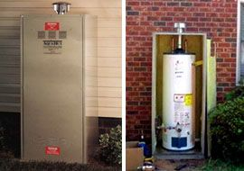 Would You Consider An Outside Hot Water Heater Hot Water Heater Water Heater Heater