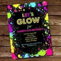 Tarjetas De Invitaciones De 15 Años En Neon 5