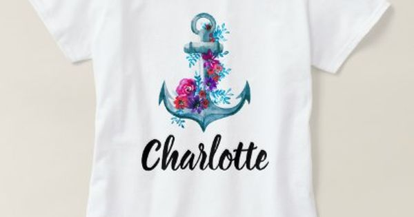 Trendy Personalized Nautical Watercolor Anchor T Shirt Zazzle