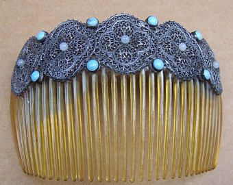 Carved And Pierced Horn Back Comb Hair Ornaments Hair Adornments Hair Jewelry