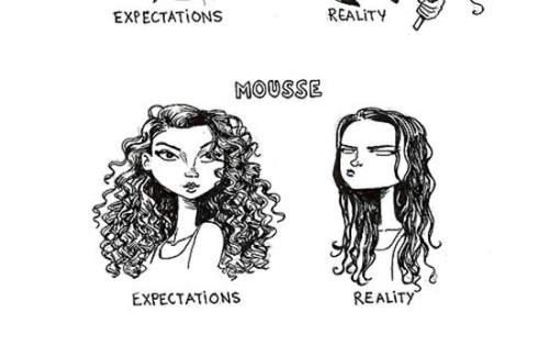 Hair expectations vs. reality... Curly hair - so true!
