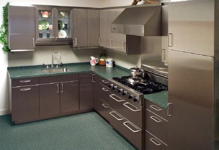 2 Perks Of Stainless Steel Kitchen Cabinets Designalls Kitchen Cabinet Design Metal Kitchen Cabinets Refacing Kitchen Cabinets