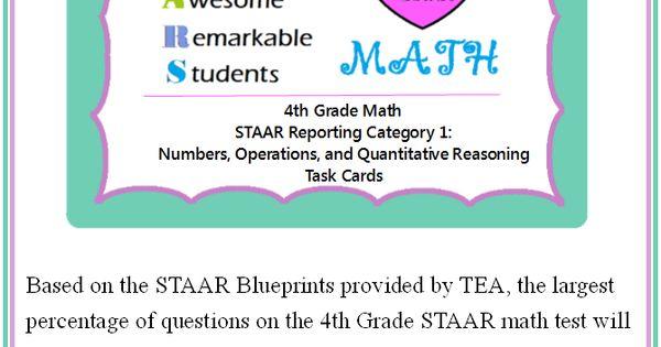4th grade math staar numbers operations quantitative. Black Bedroom Furniture Sets. Home Design Ideas