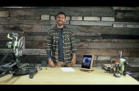 How To Make A Barnwood Tablet Stand Diy Network Youtube Tablet Stand Diy Diy Network Diy Ipad Stand