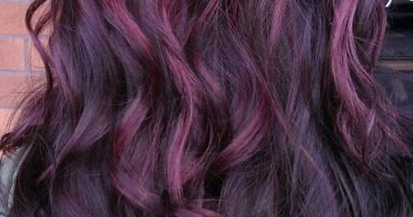 violet highlights. This hair color wouldn't look good on me but I