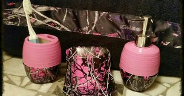 Pink Camo Bathroom Set, Camouflage Bathroom Sets