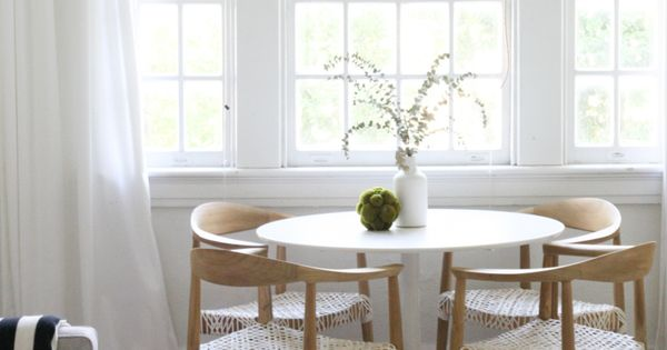 Odyssey White Dining Table Small Space Living New