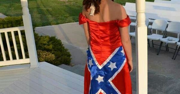 I love the rebel flag dress it could possibly be my senior for Rebel flag wedding dresses