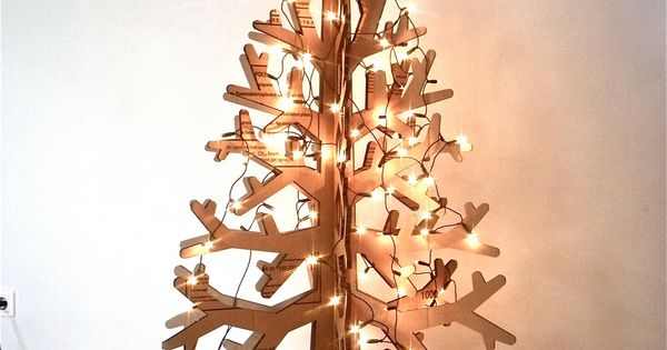 Recycled cardboard christmas tree holiday by cardboardchristmas