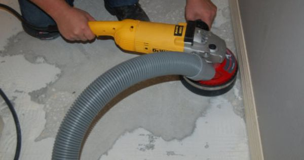 dust free thinset removal
