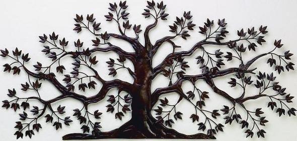 Rusted Brown Tree Wall Art Accessories Iron Wall Art Metal Tree