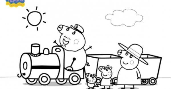 Disegno treno di peppa pig da colorare disegni da for Immagini peppa pig da colorare