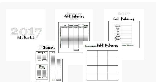 Financial Planner, Debt Free Printable, Cash Envelope System, Debt - business finance spreadsheet template