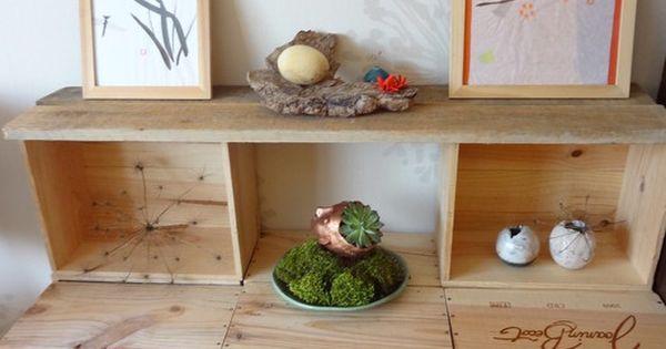 petite tag re avec caisses de vin caisse vin pinterest petite etagere caisses de vin. Black Bedroom Furniture Sets. Home Design Ideas