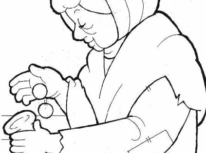 widows mite coloring pages | Widows Mite Coloring Page Coloring Pages