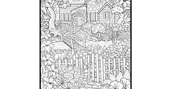 adult coloring pages nature Detailed