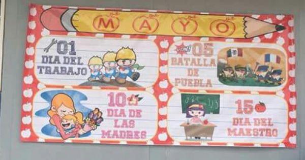 Periodico mural mayo peri dico mural pinterest murales for Amenidades para periodico mural