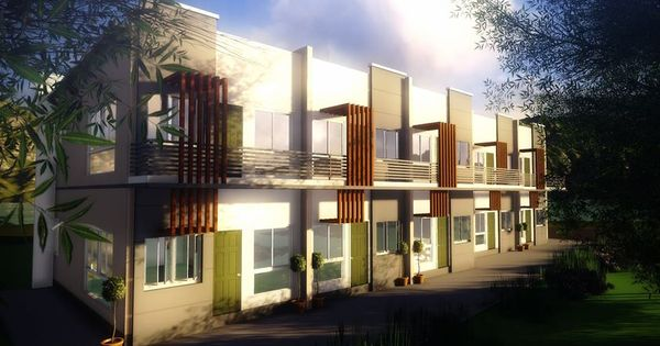 10 units 2 story apartment in modern zen type design for Two storey apartment design
