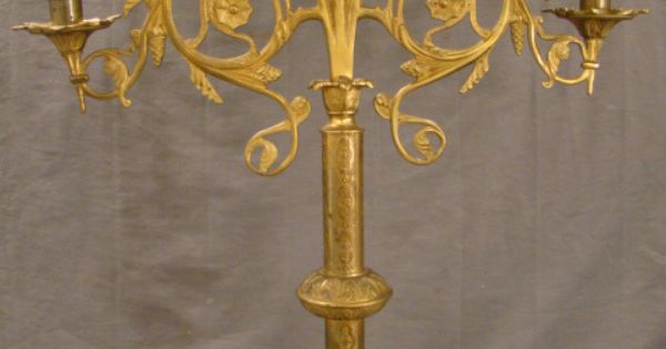 19thc Antique Gothic Victorian Mansion Old Brass